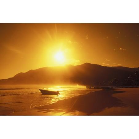 Couché de soleil sur la plage, impression sur papier peint intissé, Imprim'Déco spécialiste du grand format