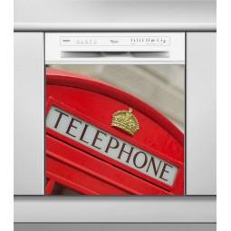 Sticker Lave Vaisselle London, création Imprim'Déco, magasin vente en ligne stickers de décoration