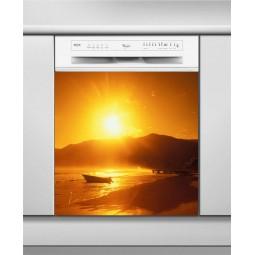 Sticker Lave Vaisselle couché de soleil, création Imprim'Déco, magasin vente en ligne stickers de décoration