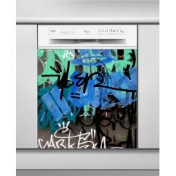 Sticker Lave Vaisselle tags, création Imprim'Déco, magasin vente en ligne stickers de décoration