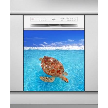 Sticker Lave Vaisselle tortue, turtle, création Imprim'Déco, magasin vente en ligne stickers de décoration