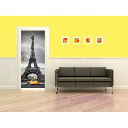 Poster porte Tour Effeil 2 CV Orange