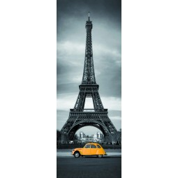 Poster porte Tour Effeil 2 CV Orange