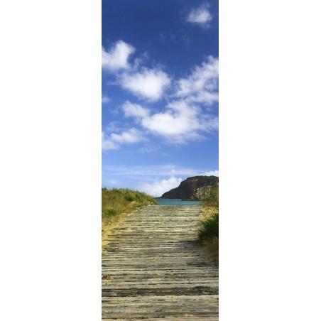 Poster porte chemin dans les dunes