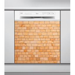 Sticker Lave Vaisselle mur de briques