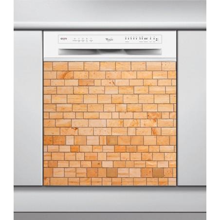 Sticker Lave Vaisselle psychédélique, création Imprim'Déco,  stickers de décoration