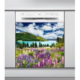 Sticker Lave Vaisselle paysage fleuri