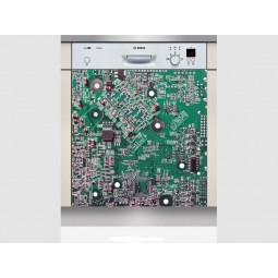 Sticker Lave Vaisselle cate electronique, création Imprim'Déco, magasin vente en ligne stickers de décoration