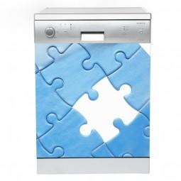 Sticker Lave Vaisselle Puzzle, création Imprim'Déco, magasin vente en ligne stickers de décoration