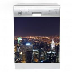 Sticker décor lave vaisselle New York by night