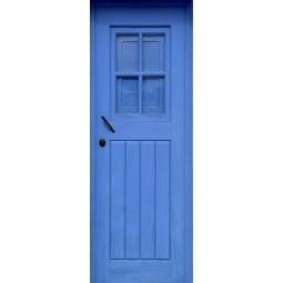 Poster porte en bois bleu
