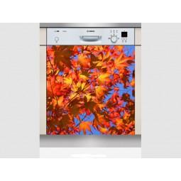 Sticker Lave Vaisselle feuilles d'arbres, création Imprim'Déco, magasin vente en ligne stickers de décoration