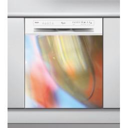 Sticker Lave Vaisselle art abstrait verre coloré
