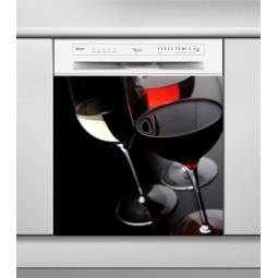 Sticker Lave Vaisselle verre à vin
