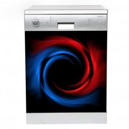Sticker lave vaisselle art psychédélique