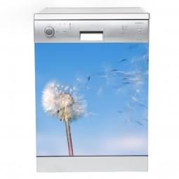 Sticker Lave Vaisselle pissenlit, création Imprim'Déco, magasin vente en ligne stickers de décoration