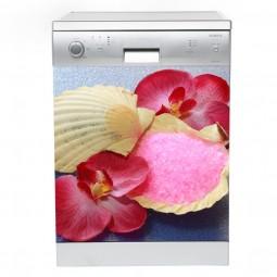 Sticker Lave Vaisselle coquillages, création Imprim'Déco, magasin vente en ligne stickers de décoration