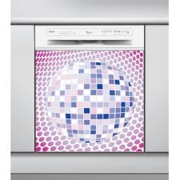 Sticker Lave Vaisselle disco, création Imprim'Déco, magasin vente en ligne stickers de décoration