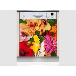 Sticker Lave Vaisselle bouquet fleuri, création Imprim'Déco, magasin vente en ligne stickers de décoration