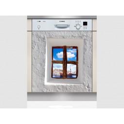Sticker Lave Vaisselle fenêtre, création Imprim'Déco, magasin vente en ligne stickers de décoration
