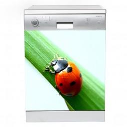 Sticker Lave Vaisselle coccinelle 2 , création Imprim'Déco, magasin vente en ligne stickers de décoration