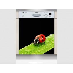 Sticker Lave Vaisselle coccinelle 3 , création Imprim'Déco, magasin vente en ligne stickers de décoration
