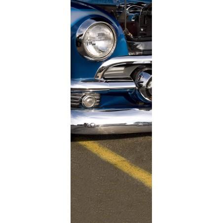 Sticker porte phare de voiture noire