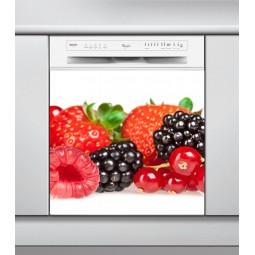 Sticker Lave Vaisselle fruits rouges , création Imprim'Déco, magasin vente en ligne stickers de décoration