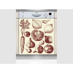 Sticker Lave Vaisselle fruits et légumes 4 , création Imprim'Déco, magasin vente en ligne stickers de décoration