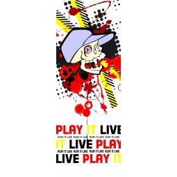 "Stickers porte ""Play it Live"""