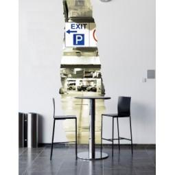 Sticker déchirure parking