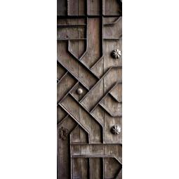 Decoration de porte en bois sculpté