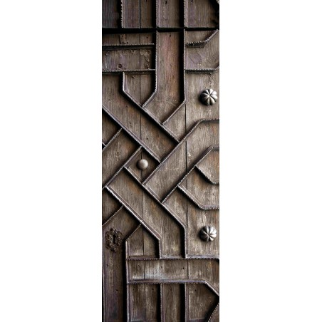 Decoration de porte en bois sculpté