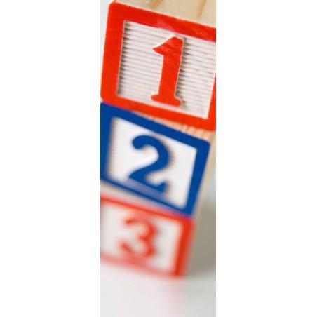 Decoration de porte cubes numérotés