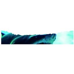 Sticker déchirure trompe l'oeil requin