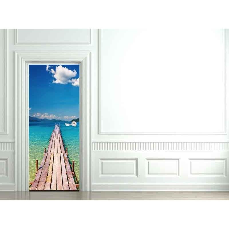 Decoration de porte ponton paradisiaque