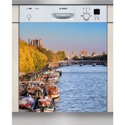 Sticker Lave Vaisselle La Seine, création Imprim'Déco, magasin vente en ligne stickers de décoration