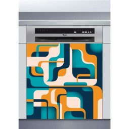 Sticker Lave Vaisselle abstrait coloré , création Imprim'Déco, magasin vente en ligne stickers de décoration