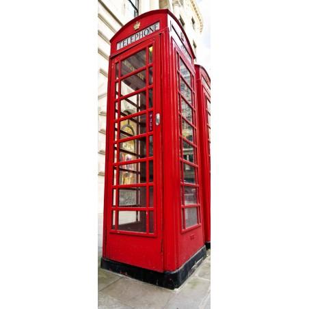 Decoration de porte cabine de téléphone de Londres