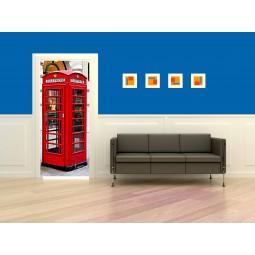 Poster porte cabine téléphone Londres 2
