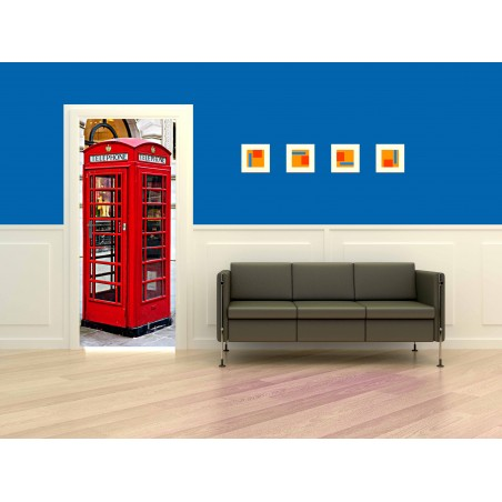 Decoration de porte cabine de téléphone de Londres 2