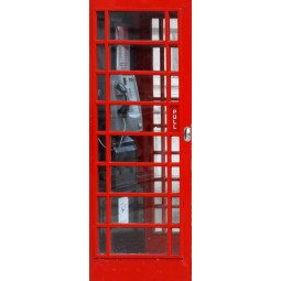 Decoration de porte cabine telephone  Anglaise