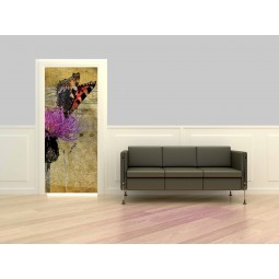 Decoration porte interieure papillon design
