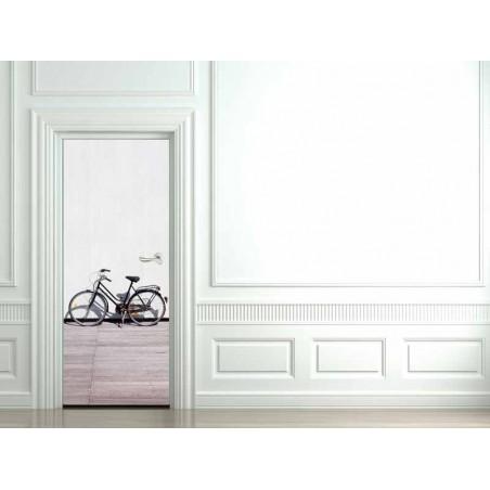 Decoration porte interieure vélo