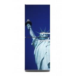 Sticker décor de frigo statue de la liberté, exclusivité Imprim'Déco
