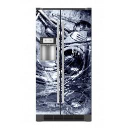 Sticker décor de frigo couverts dans l'eau, exclusivité Imprim'Déco