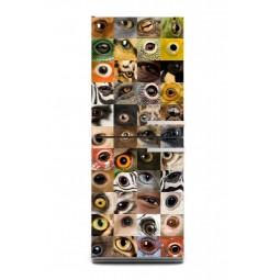Sticker décor de frigo yeux d'animaux, exclusivité Imprim'Déco