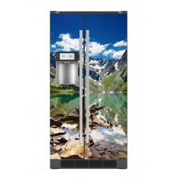 Sticker décor de frigo paysage montagnard, exclusivité Imprim'Déco