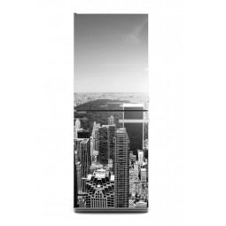 Sticker décor de frigo immeubles NY N&B, exclusivité Imprim'Déco