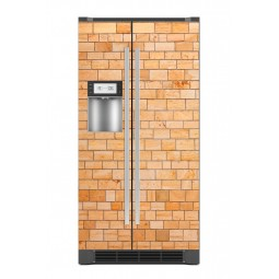 Sticker décor de frigo mur de briques, exclusivité Imprim'Déco